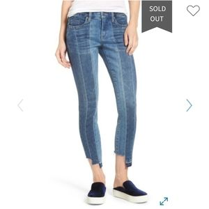 Blank NYC Step Hem Skinny Jeans Size 27